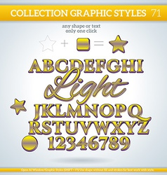 Light Graphic Styles for Design use for decor text vector image