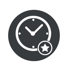 Monochrome round best time icon vector