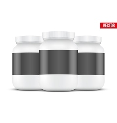 Mockup background of sport nutrition container vector