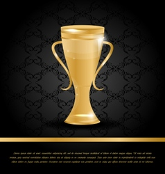 Golden championship cup vector
