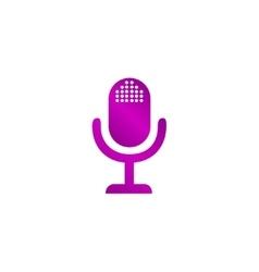 Microphone web icon flat design vector