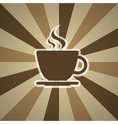 Cup of coffee on background vector
