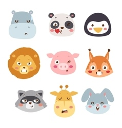 Animal emotion avatar icon vector image vector image