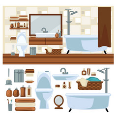 Bathroom decoration concept vector