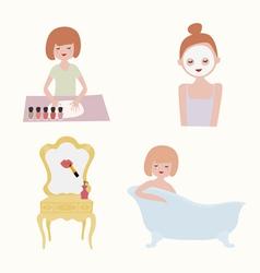 Beauty treatments set vector image