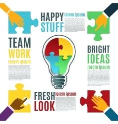 Bright idea creative conceptual background vector