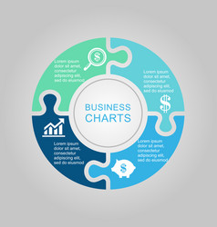 business diagram circle vector image