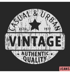 Casual and urban vintage stamp vector image