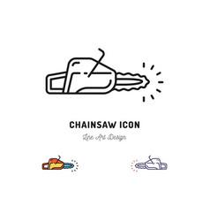 chainsaw icon thin line art symbol vector image