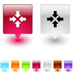 Click here square button vector image vector image