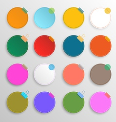 Colorful circle set vector image vector image