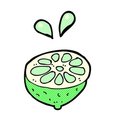 comic cartoon fresh lime vector image