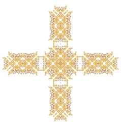 Cross pattern ornament vector