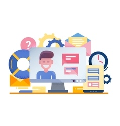 Customer support - flat design vector