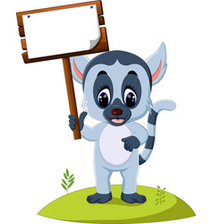 Cute baby lemur vector