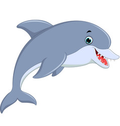 cute dolphin jumping vector image