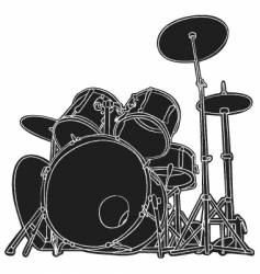 drums sketch vector image vector image