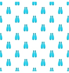 Fins for diving pattern cartoon style vector