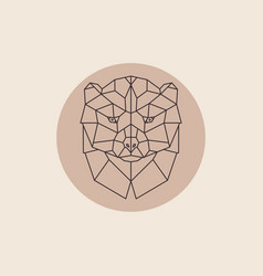 Geometric head wolverine vector