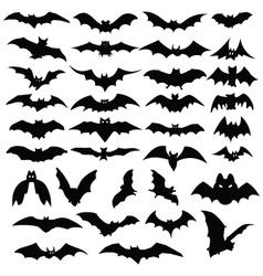Halloween bats silhouettes vector