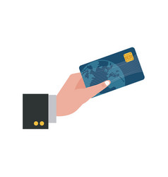 Hand holding credit card payment image vector