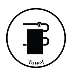 Heated towel rail icon vector image vector image