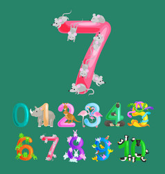 ordinal numbers for teaching children counting vector image vector image