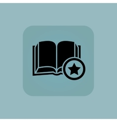 Pale blue favorite book icon vector