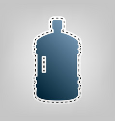 plastic bottle silhouette sign blue icon vector image vector image