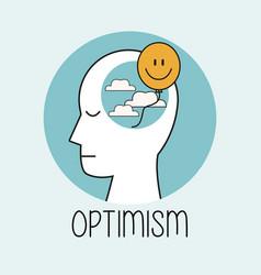 profile human head optimism vector image