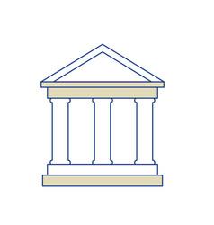 school symbol icon vector image