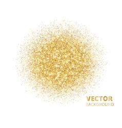 sparkling background golden glitter explosion vector image vector image