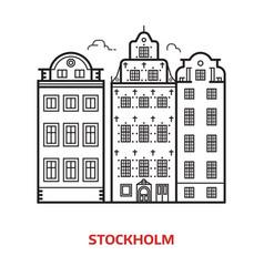 Stockholm landmark vector