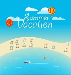Summer season concept summer vacation vector