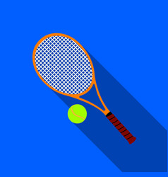 tennis icon flate single sport icon from the big vector image vector image