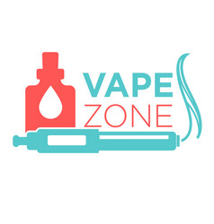 Vape zone start vaping logo isolated on white vector