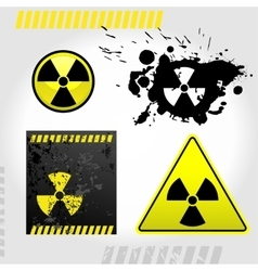 Warning radiation signs vector image vector image