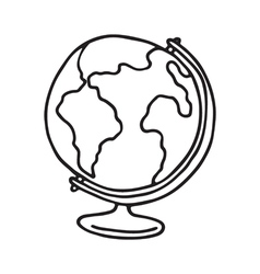 Globe icon outlined vector