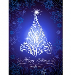 shining christmas fur-tree vector image
