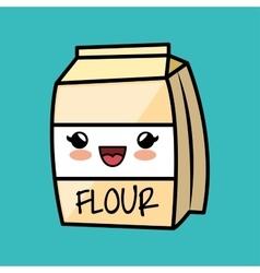 cartoon flour cokking kitchen icon vector image