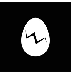 Egg with crack vector