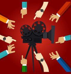 Movie cinema entertainment together friendship vector