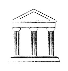 Blurred silhouette parthenon architecture icon vector