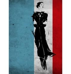 Fetro fashion woman sketch vector