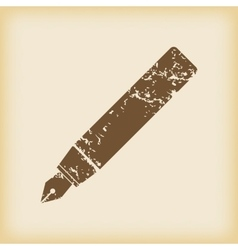 Grungy ink pen icon vector
