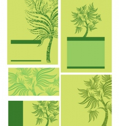 spring trees vector image
