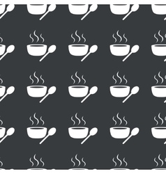 Straight black hot soup pattern vector
