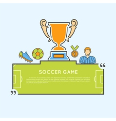 Soccer game concept vector