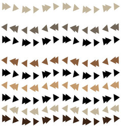 Triangle garland pattern vector