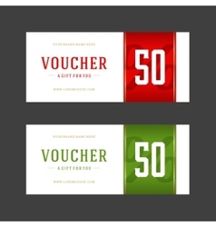 Voucher template retro design vector